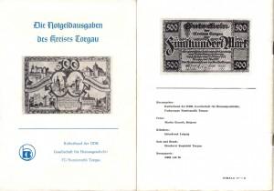 Die Notgeldausgaben des Kreises Torgau