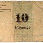 Gefangenenlager Notgeld 10 Pfennige