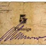 Gefangenenlager Notgeld 5 Pfennige