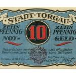 Torgauer Notgeld 1921 10 Pfennig Dachdecker-Verbandstag Vorderseite