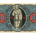 Torgauer Notgeld 1921 10 Pfennig Dachdecker-Verbandstag Rückseite