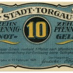 Torgauer Notgeld 1921 10 Pfennig Variante 1 Vorderseite