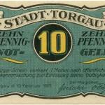 Torgauer Notgeld 1921 10 Pfennig Variante 2 Vorderseite