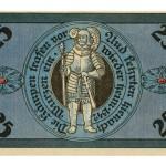 Torgauer Notgeld 1921 25 Pfennig Dachdecker-Verbandstag Rückseite