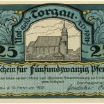 Torgauer Notgeld 1921 25 Pfennig Variante 1 Vorderseite