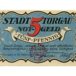 Torgauer Notgeld 1921 5 Pfennig Dachdecker-Verbandstag Vorderseite