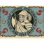 Torgauer Notgeld 1921 5 Pfennig Dachdecker-Verbandstag Rückseite