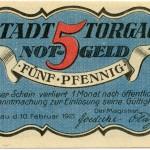 Torgauer Notgeld 1921 5 Pfennig Variante 3 Vorderseite