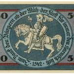 Torgauer Notgeld 1921 50 Pfennig Dachdecker-Verbandstag Rückseite