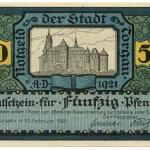 Torgauer Notgeld 1921 50 Pfennig Variante 1 Vorderseite