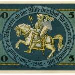 Torgauer Notgeld 1921 50 Pfennig Variante 1 Rückseite