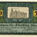 Torgauer Notgeld 1921 50 Pfennig Variante 2 Vorderseite