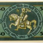 Torgauer Notgeld 1921 50 Pfennig Variante 2 Rückseite