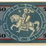 Torgauer Notgeld 1921 50 Pfennig Variante 3 Rückseite