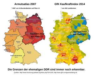 Armutsatlas GfK-Kaufkraftindex DDR